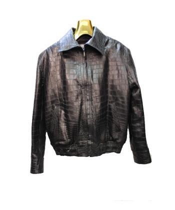 Genuine Handmade Alligator Skin Men's Jacket