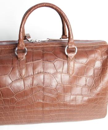 alligator men hand Bag