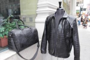 Alligator Jacket & Hand Bag