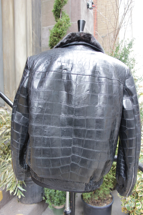 alligator jacket, custom made , tailor made